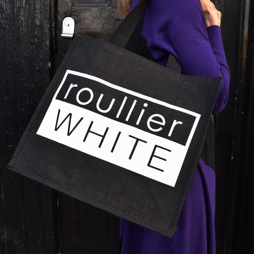 Roullier White Cool Customer Tote Bag